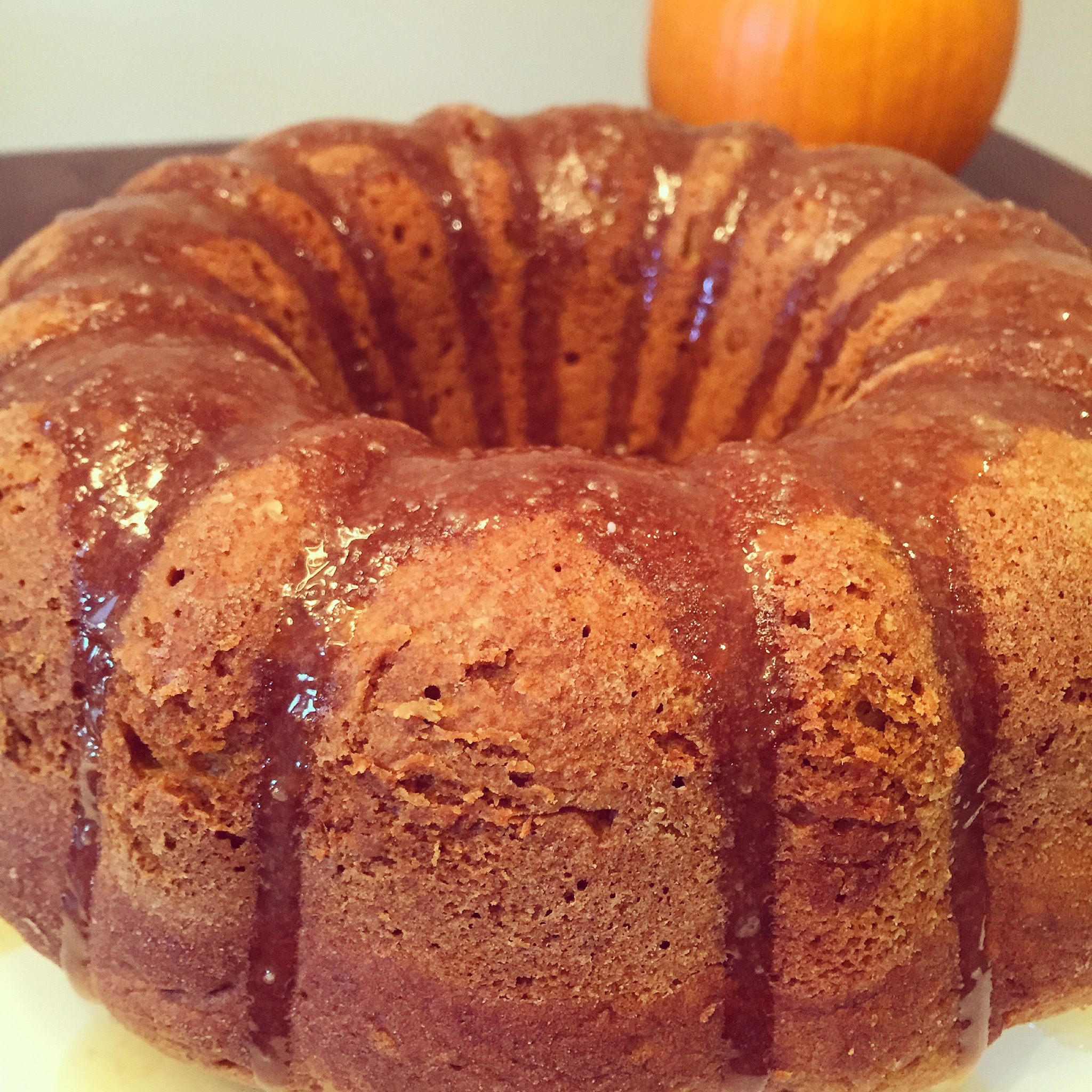 Pumpkin Pound Cake with Maple Glaze – this baking beauty
